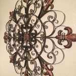 Metal Circle Wall Decor New Unique Fleur De Lis Round Metal Wall Rustic Scroll