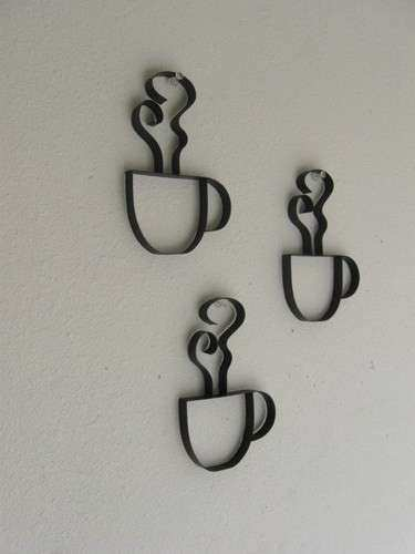 Metal Coffee Cup Wall Decor Awesome Just4theartofit On Artfire