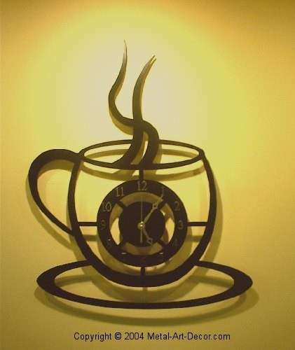 Metal Coffee Cup Wall Decor Best Of Coffee Cup Clock