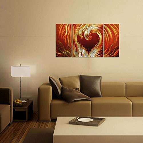 Metal Heart Wall Decor Lovely Fire Heart Metal Wall Art Decor | Wall ...