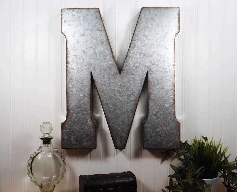 Metal Letters For Wall Decor Country Chic By Etsy