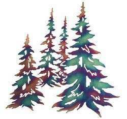 """20"""" Pine Trees Metal Wall Art by Neil Rose Nature Wall"""