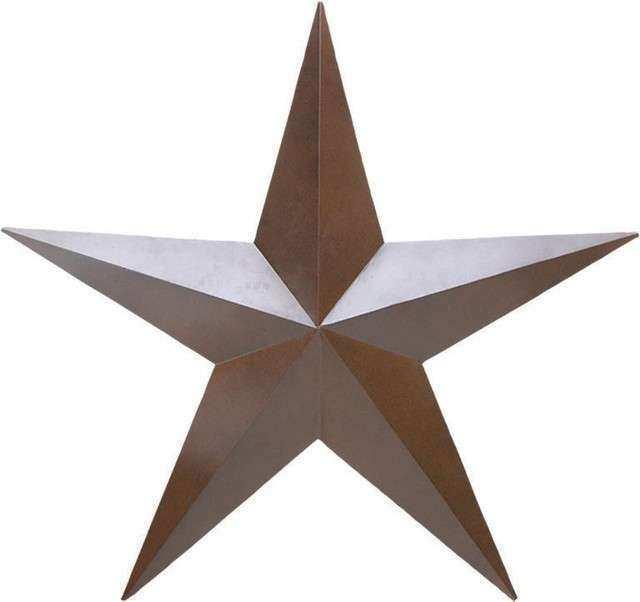 Metal Star Western Wall Art Rustic Artwork
