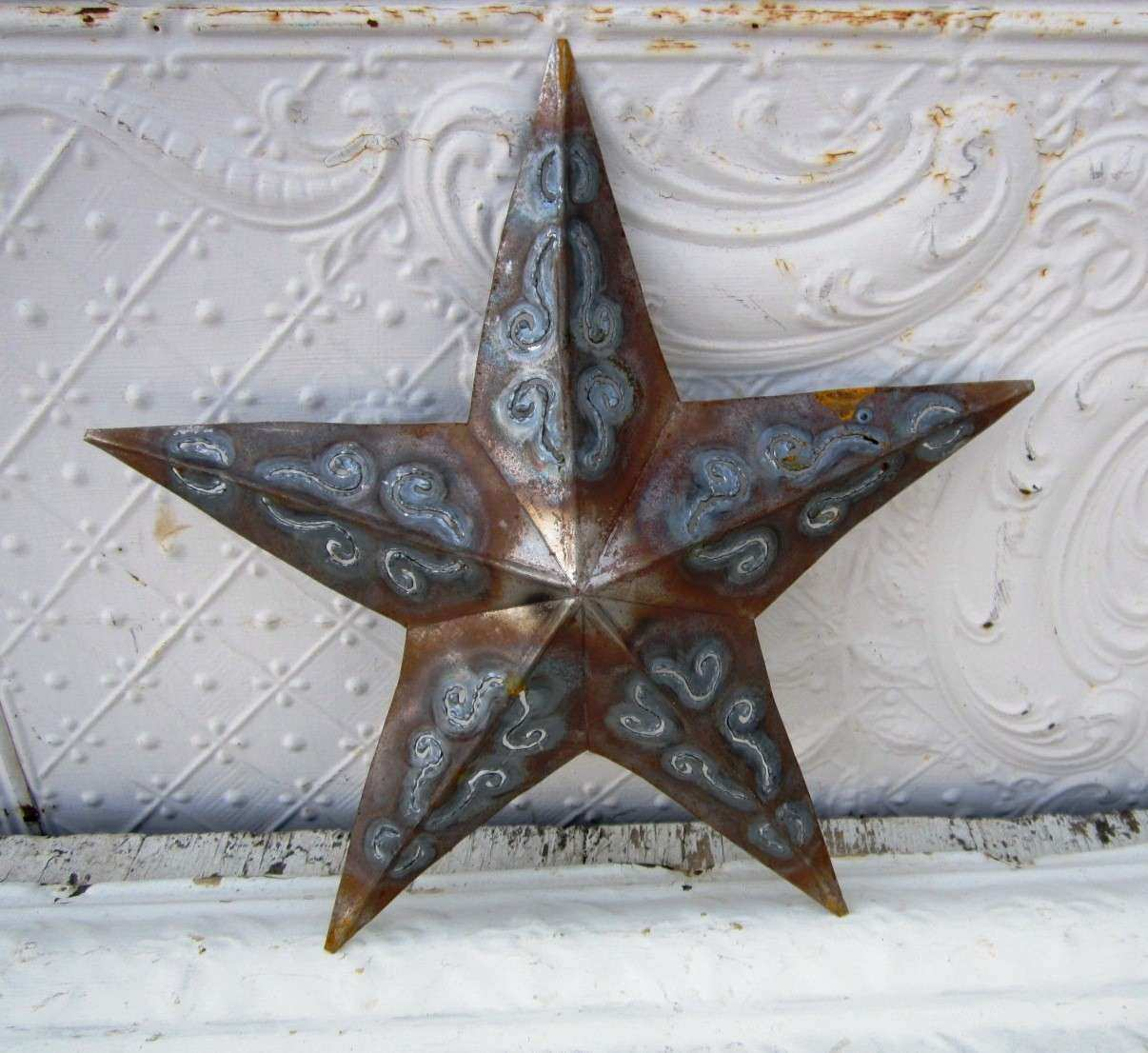 Rustic Metal Plasma Stars Decorative Wall Decor