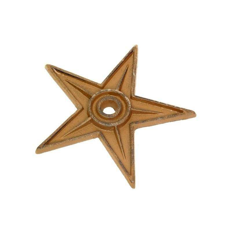 cast iron stars for easy mounting on your wall in office