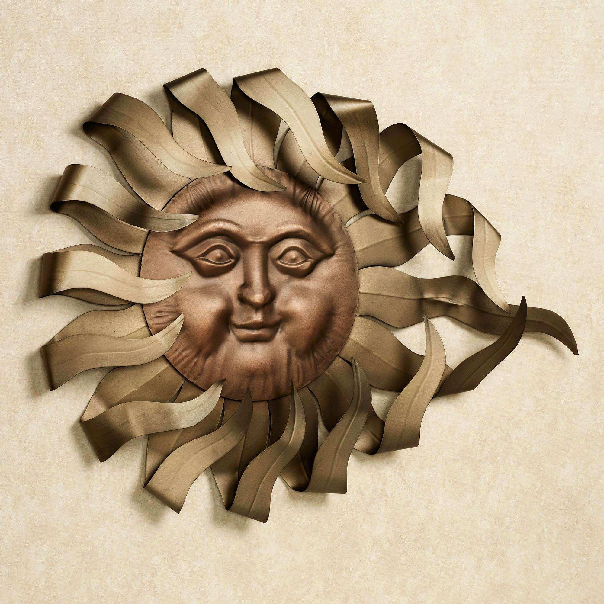 Solaire Rays Sun Metal Wall Sculpture