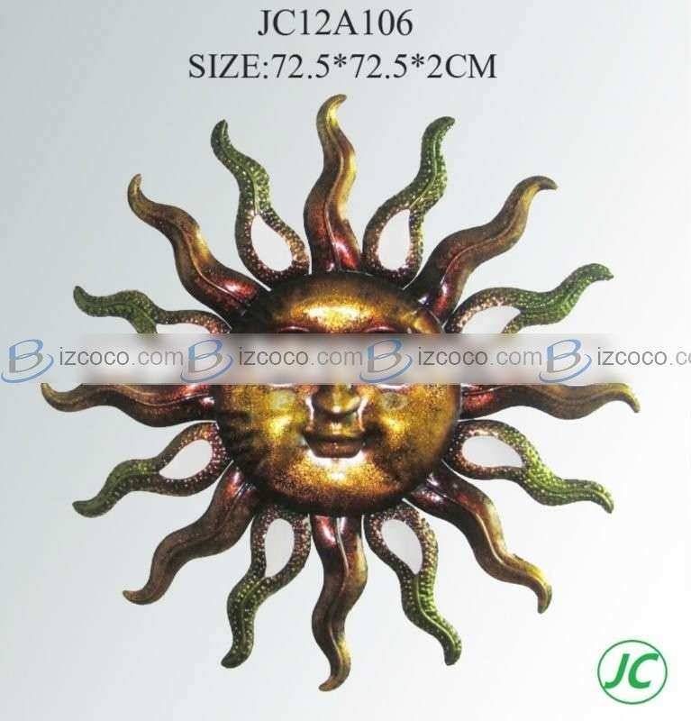 Metal Wall Decor Sun Face