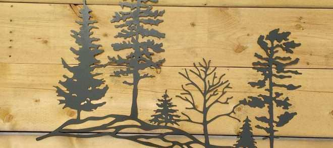 Metal Tree Art Wall Decor Inspirational Metal Tree Hillside Metal ...