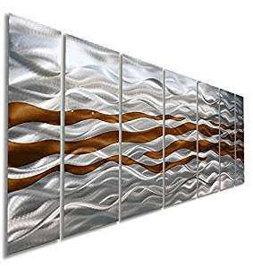 Amazon Brown & Silver Handpainted Contemporary Metal