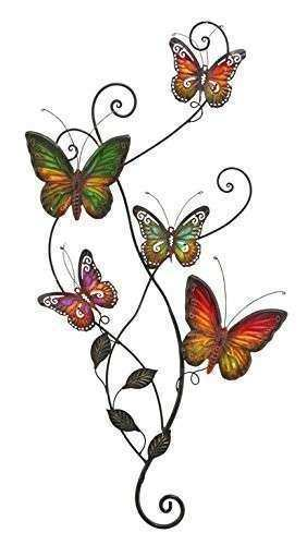 Amazon NEW Metal Wall Decor Butterfly Sculpture 29x15
