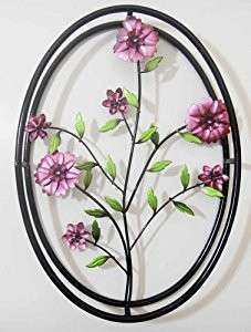 Wall Art Metal Wall Art Lilac Purple Flowers In 3D