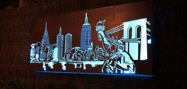 17 Best images about metal skyline wall decor on Pinterest