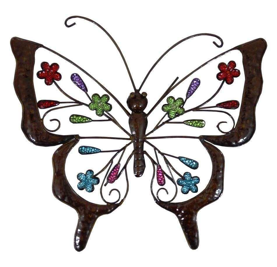 20 Choices of Metal Butterfly Wall Art