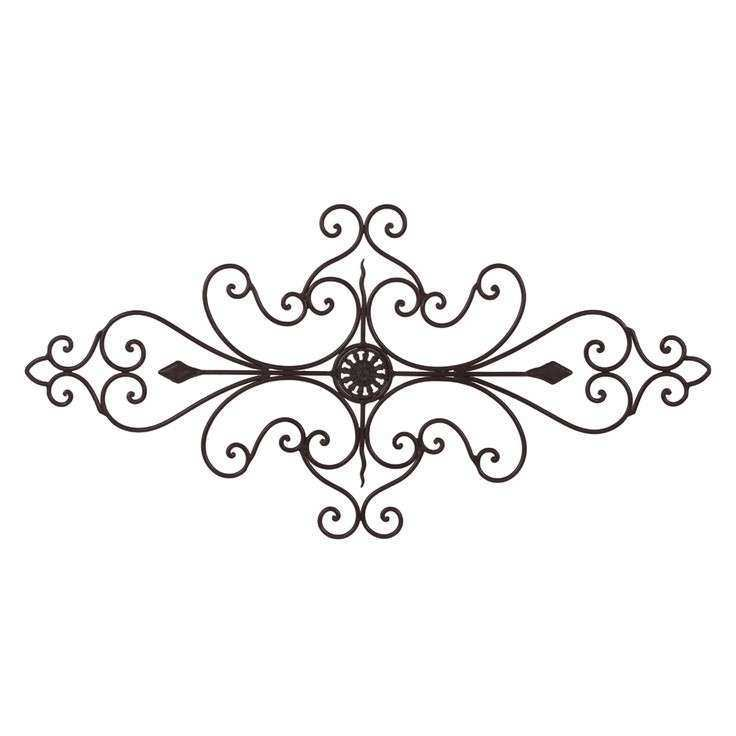 TUSCAN WROUGHT IRON METAL 32 SCROLL WALL GRILLE Cheap