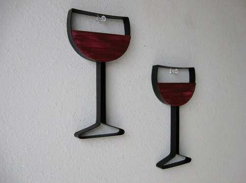 Wine Glass Metal Wall Decor