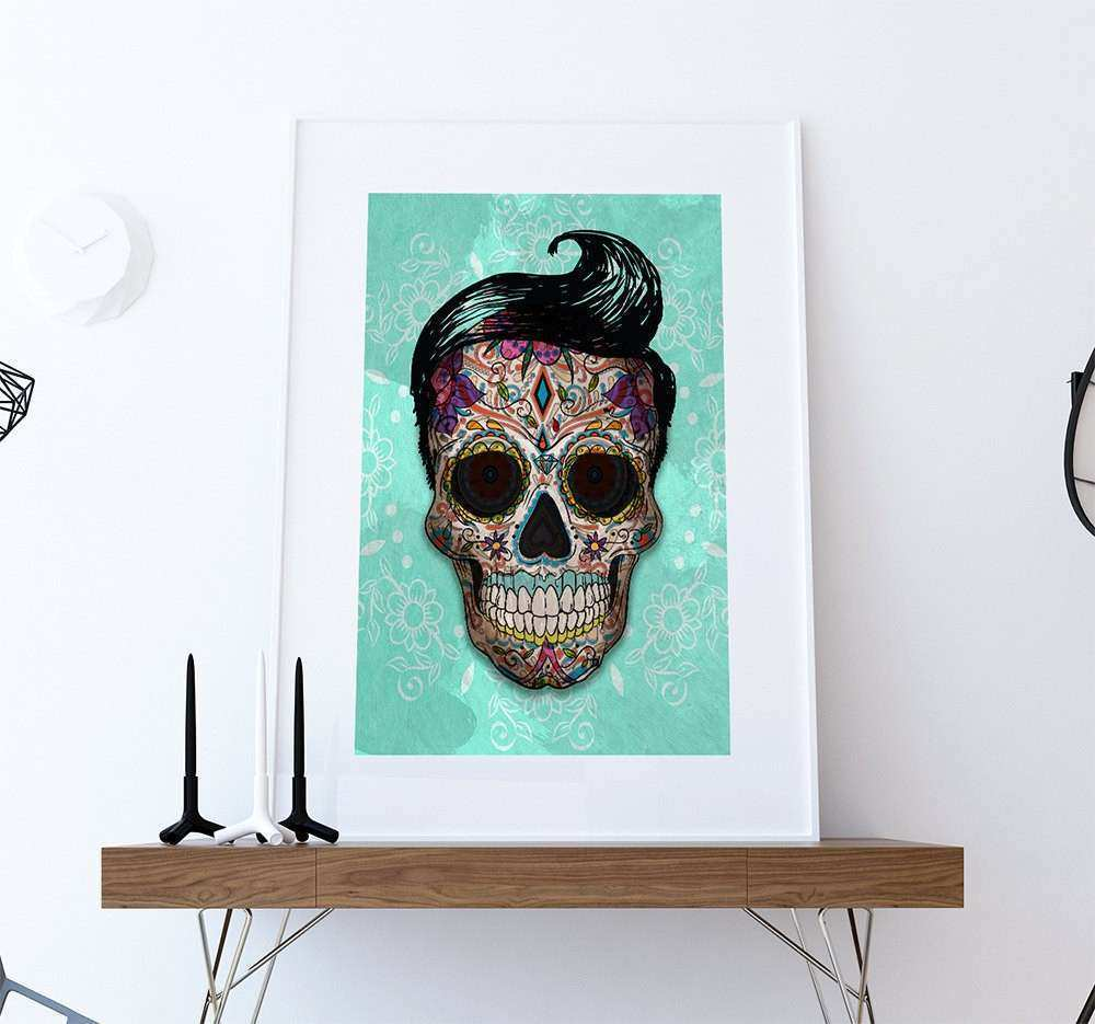 Fine Sugar Skull Wall Decor Ornament - Wall Painting Ideas ...