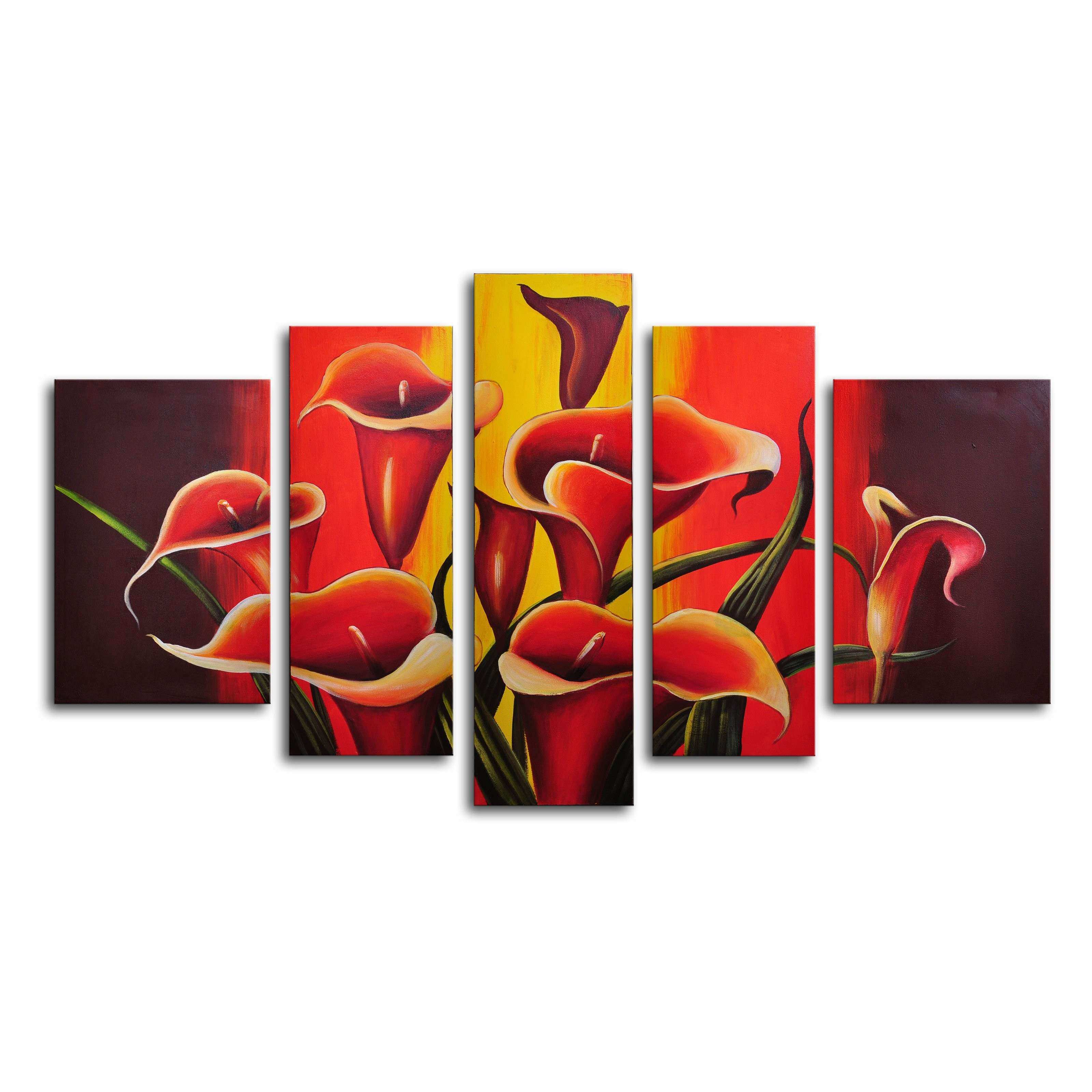 Mexican Fiesta 5 Piece Canvas Wall Art 68W x 40H in