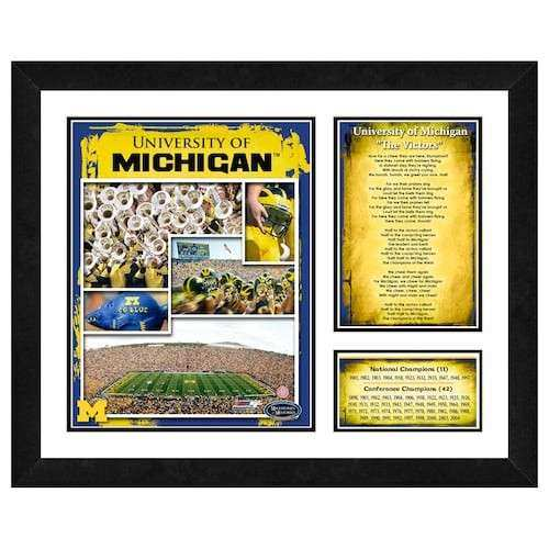 Michigan Wolverines Milestones and Memories Framed Wall Art