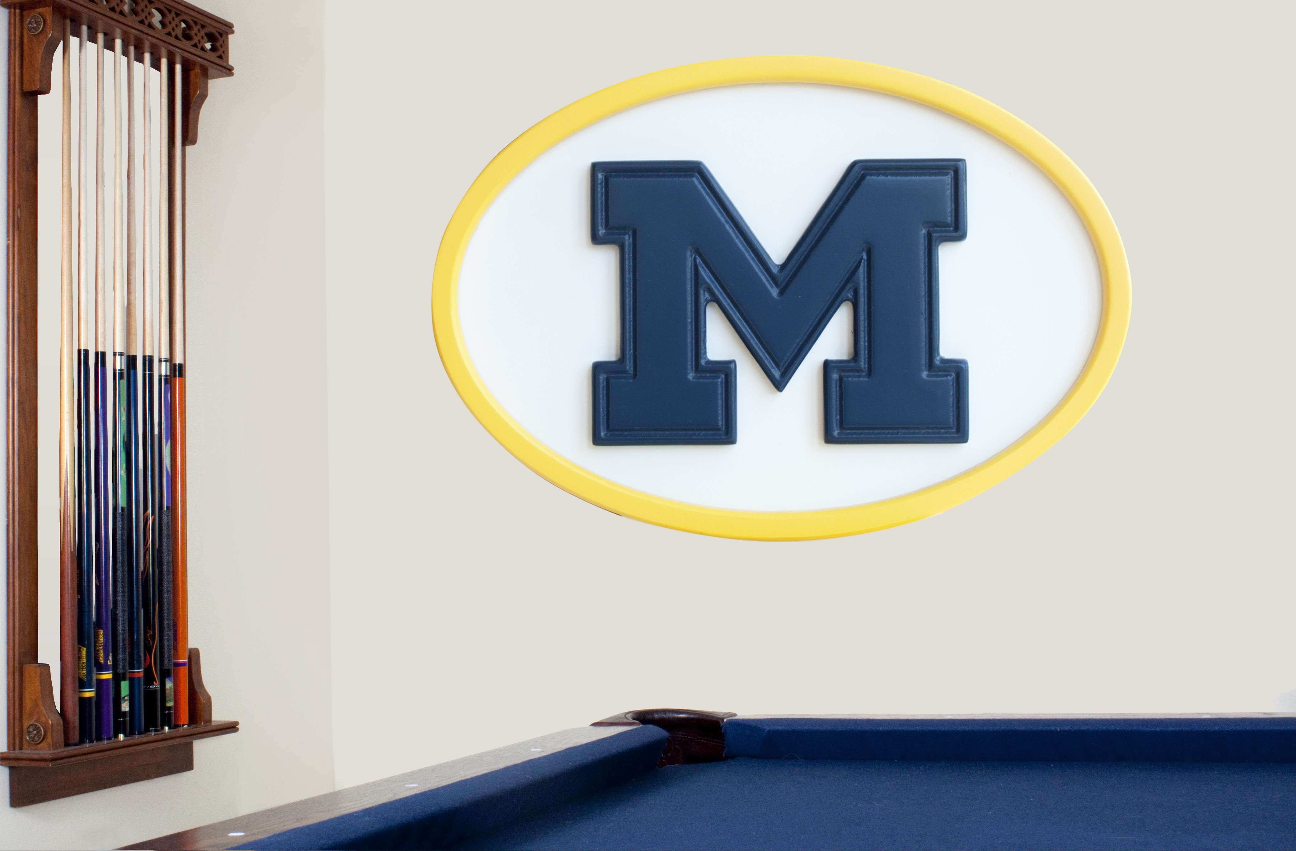 Michigan Wolverines wall art Michigan wall art
