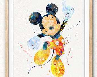Items similar to Disney wall art canvas Mickey Mouse wall