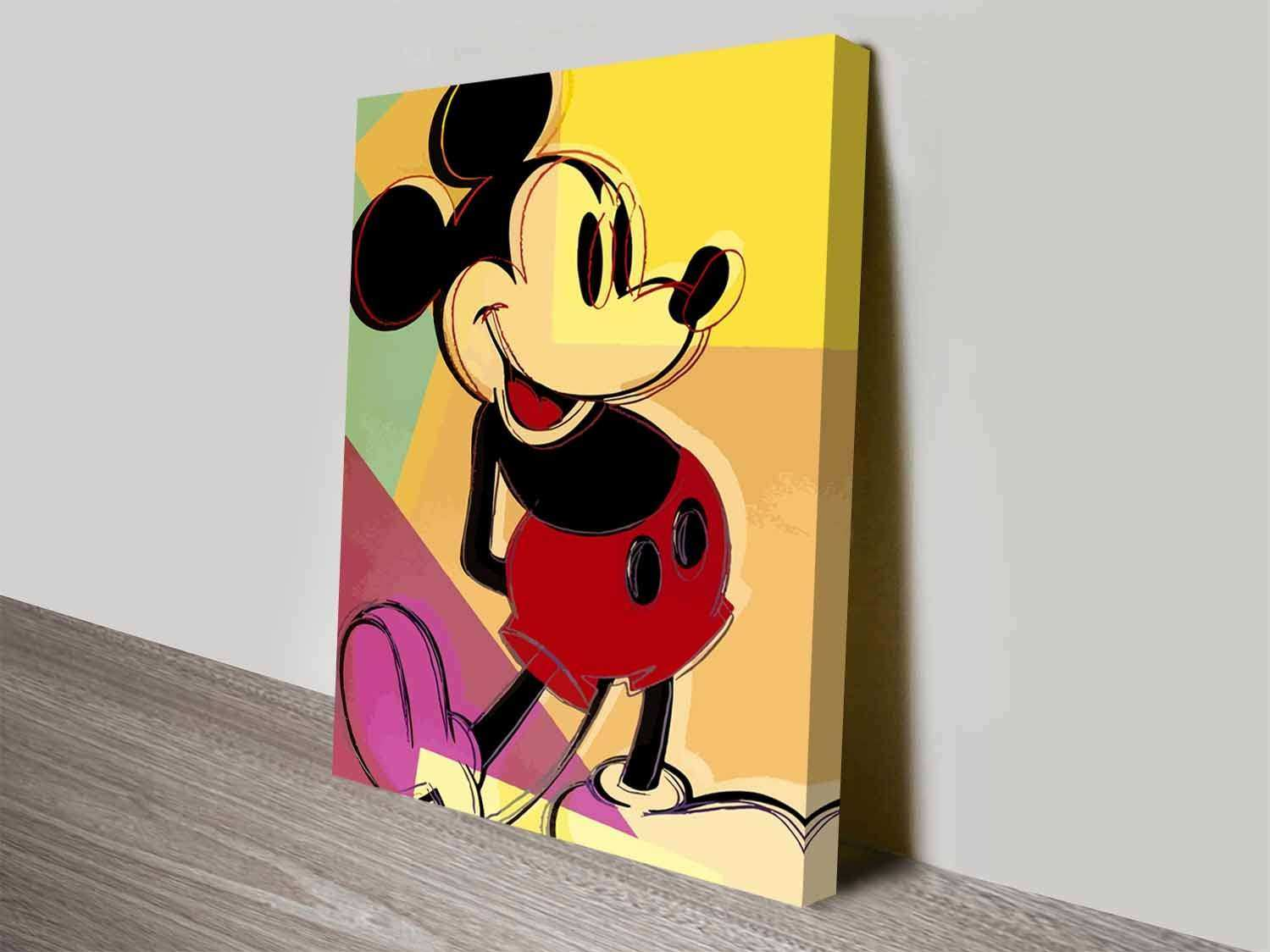Mickey Mouse Canvas Wall Art Elegant Mickey Mouse andy Warhol Wall ...