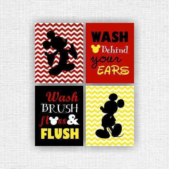 17 Best ideas about Mickey Mouse Bathroom on Pinterest