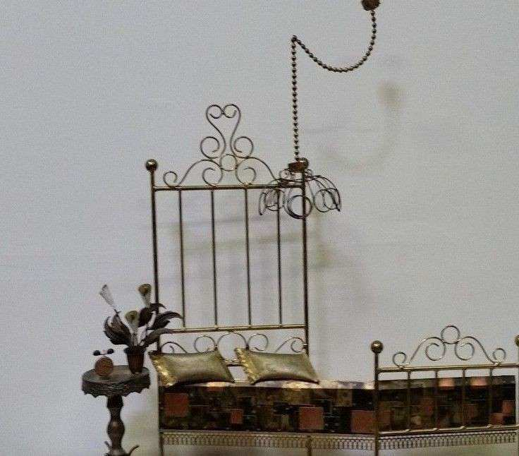 Mid Century Modern Curtis Jere The Brass Bed Sculpture