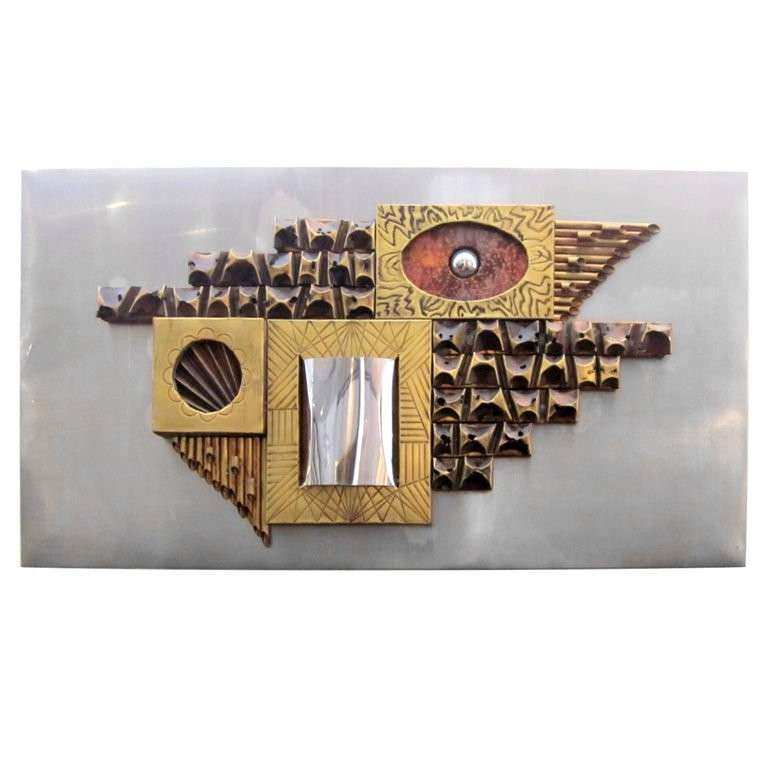Mid Century Metal Wall Art at 1stdibs