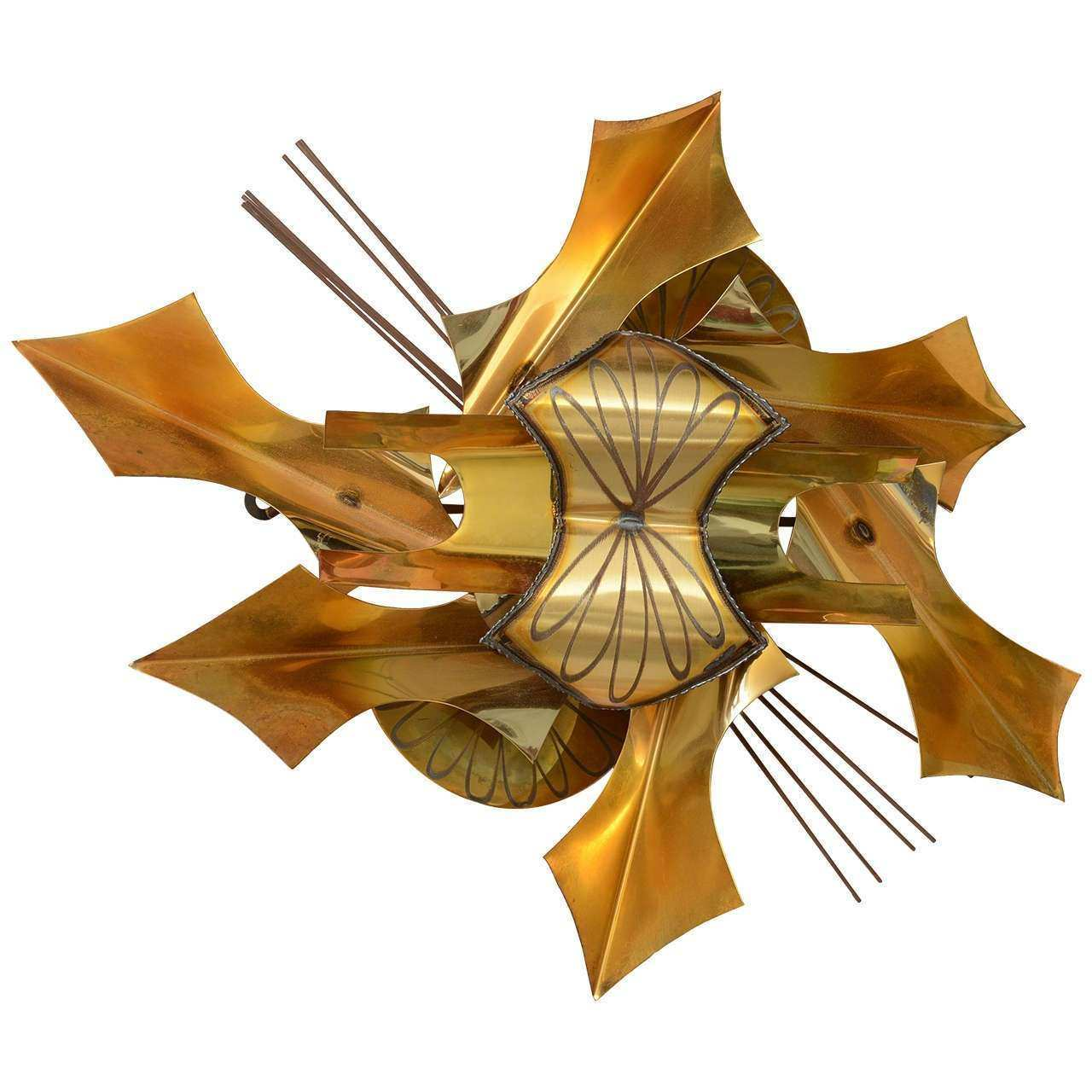 Mid Century Metal Wall Sculpture Saturday Sale at 1stdibs