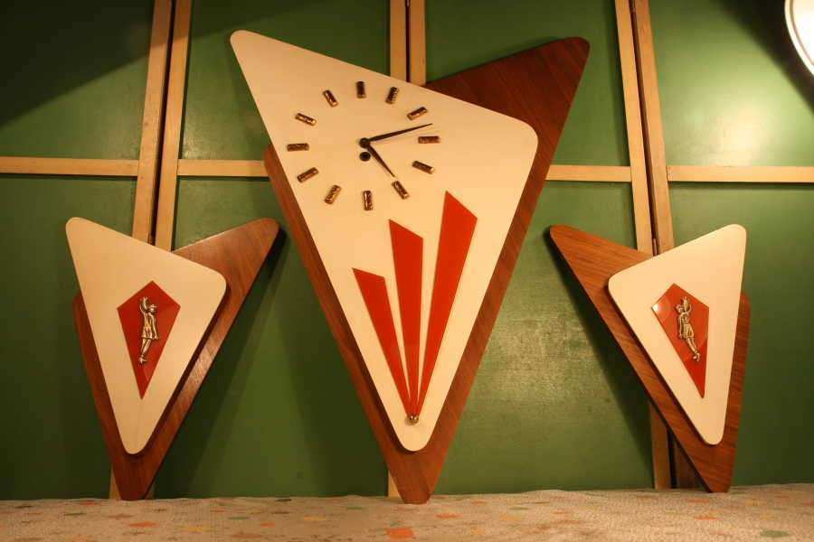 1962 empire art MID CENTURY MODERN WALL CLOCK Culture Scribe