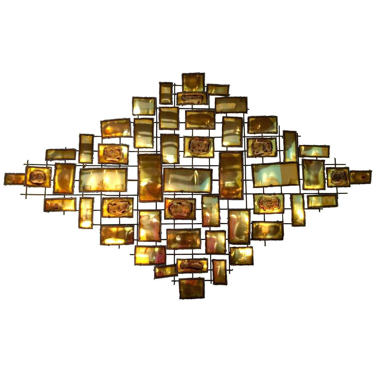 Mario Jason Mid Century Modern Wall Sculpture at 1stdibs