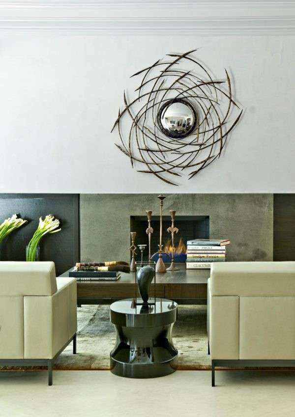 Remarkable Contemporary Mirrors for Living Room Using