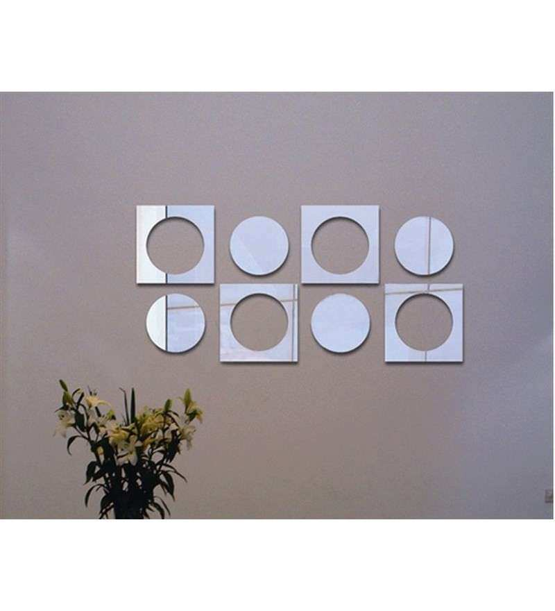 Planet Decor Squares And Circles Mirror Wall Sticker by