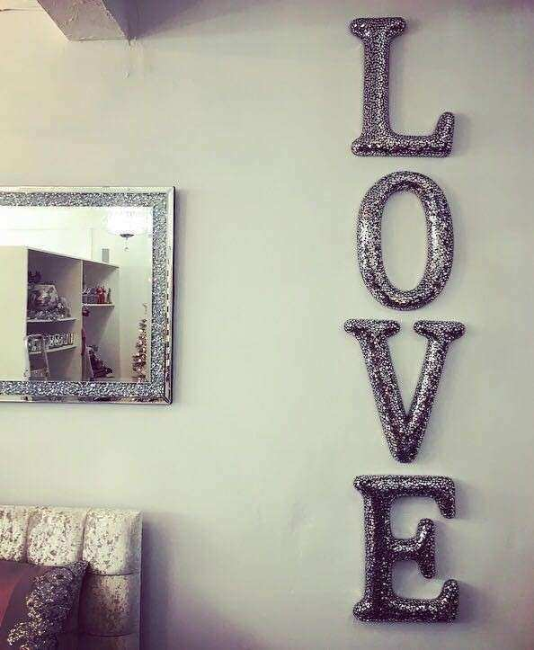 Mirrored Letters For Wall Decor Fresh Extra Black Mosaic Love