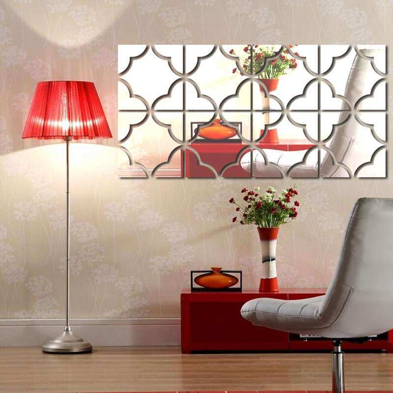 Acrylic Mirror Wall Stickers DIY home decor 3D large