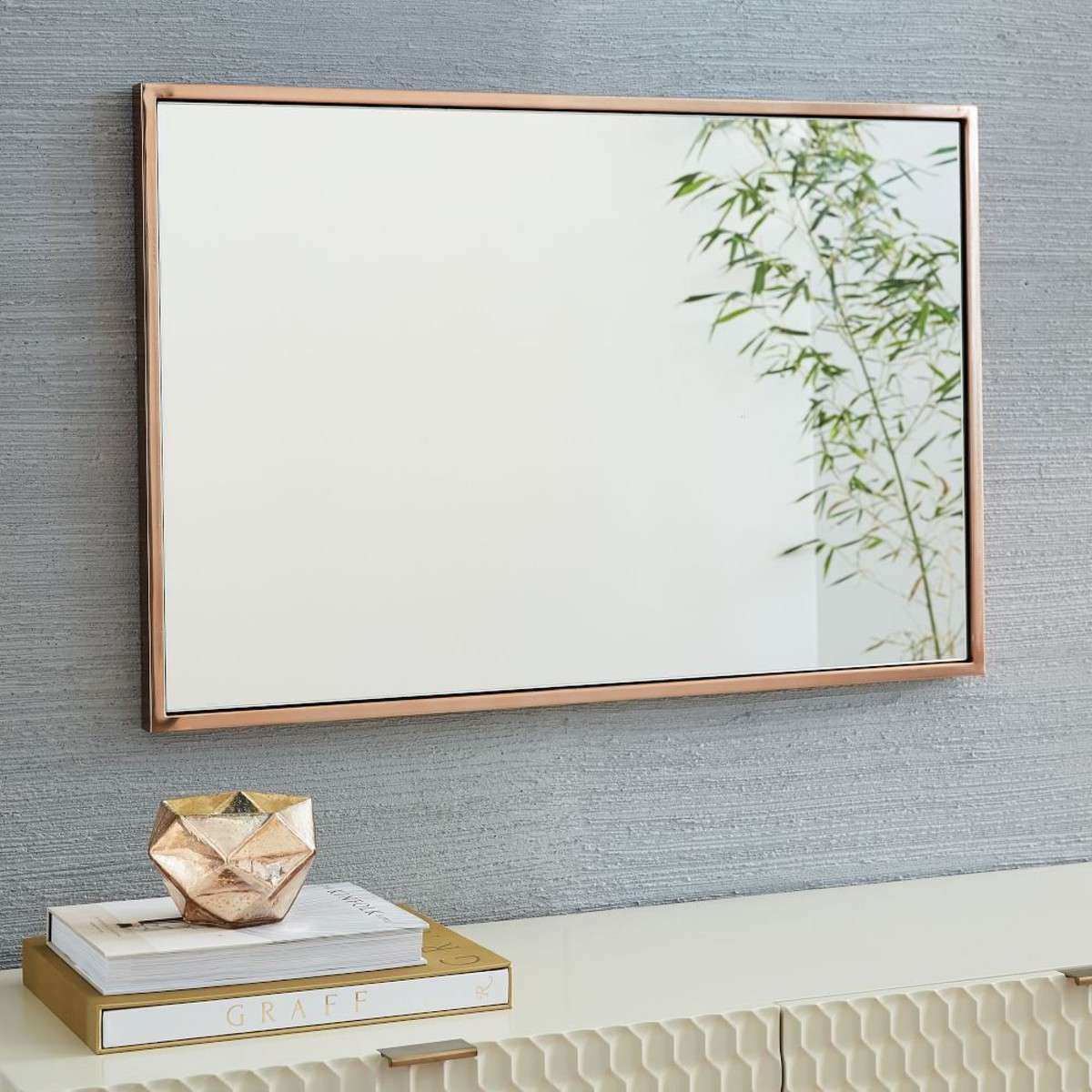 Mirrors For Wall Decor Lovely Metal Mirror Rose Gold