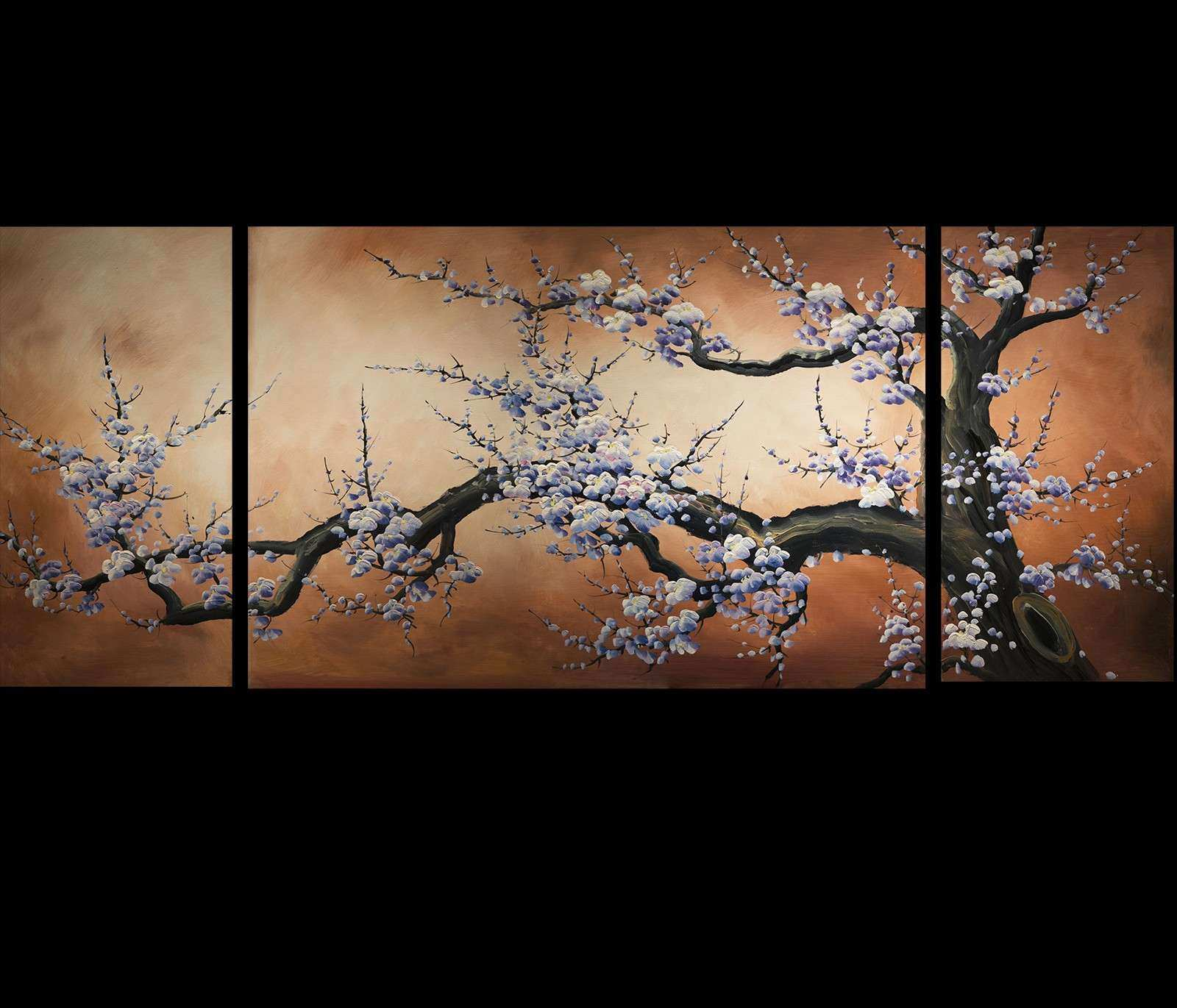 Abstract Art Prints Canvas Modern Art Cherry Blossom Painting