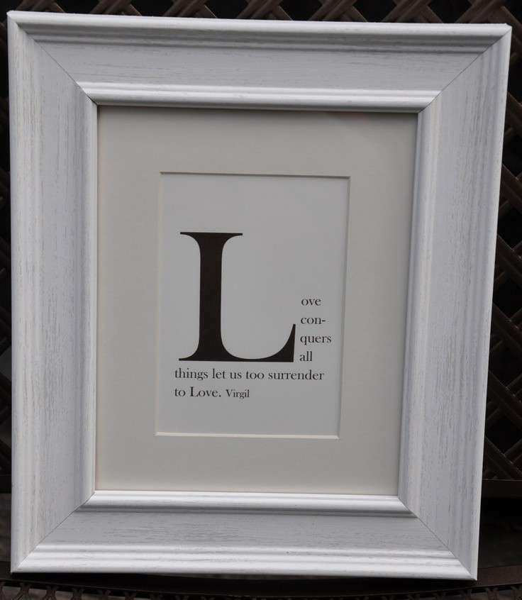 Monogram Framed Wall Art Awesome Wall Decor Quote Starting with Any ...