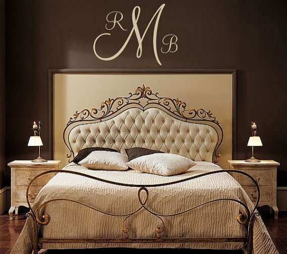 Monogram Wall Art Lovely Personalized Monogram Initial Vinyl Wall Decal by Five & Monogram Wall Art Lovely Personalized Monogram Initial Vinyl Wall ...