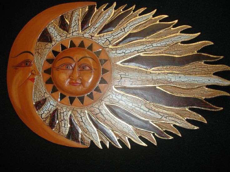 Wall Art Design Ideas Pinterest Sun Moon Wall Art Sample