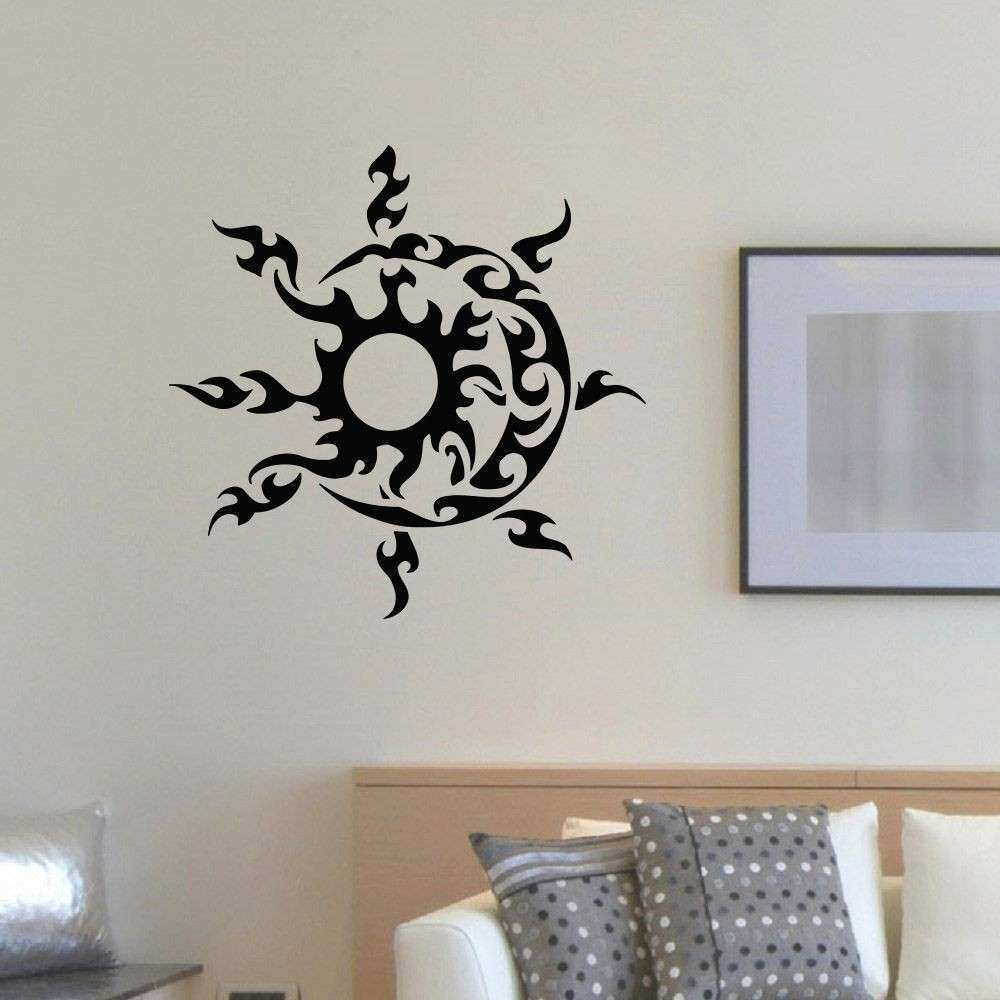 WALL DECAL VINYL STICKER SUN AND MOON DUET SYMBOL ETHNIC