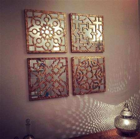 Designcall Store Bronze Sectioned Mirror Wall Art