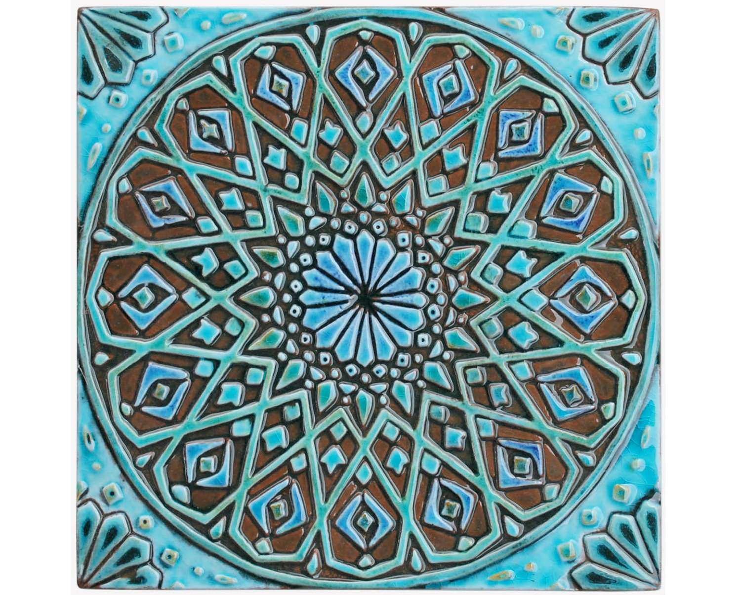 Moroccan wall hanging made from ceramic exterior wall art