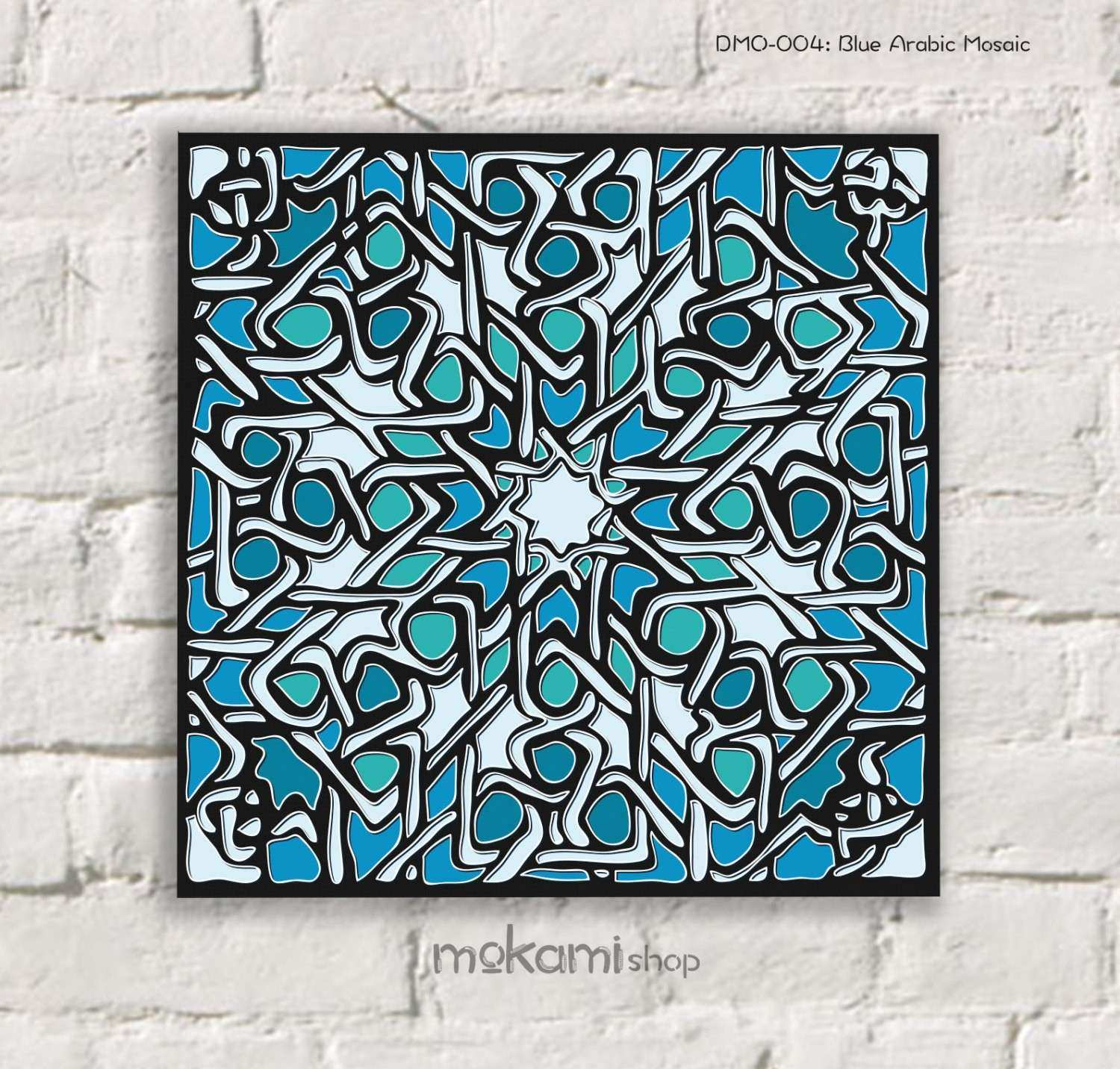 Moroccan Wall Decor Luxury Moroccan Canvas Print Arabic Mosaic Moroccan  Wall Decor By