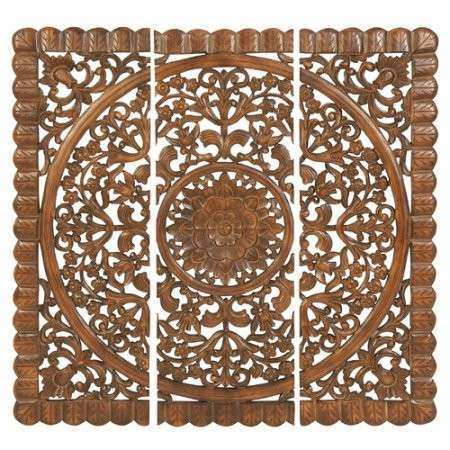 Moroccan Wood Wall Art Awesome Wall Art Wood Wall Plaque Set Of 3 Walmart