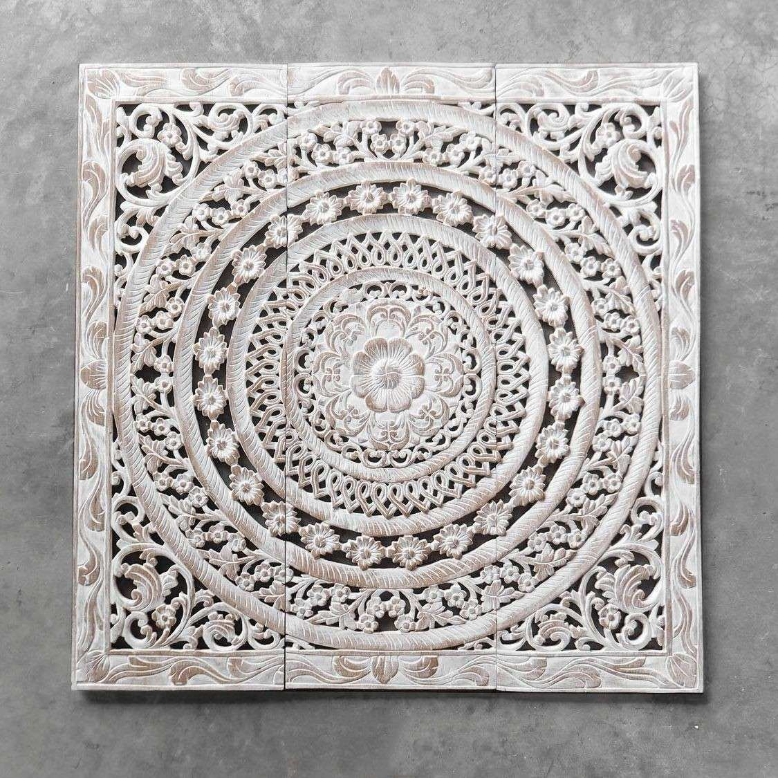 Moroccan Decent Wood Carving Wall Art Hanging