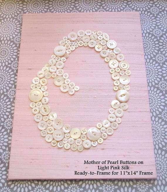 Personalized Kids Wall Art Mother of Pearl by