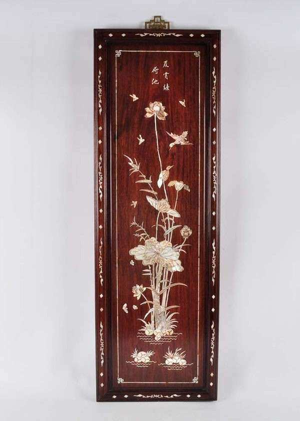 Mother of Pearl Chinoiserie Wall Panel Art EBTH