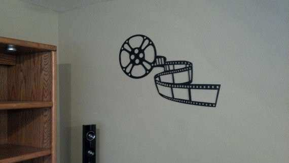 Home Theater Decor Movie Reel and 36 by sayitallonthewall