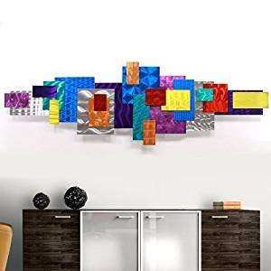 Amazon Abstract Multi Color 3D Metal Wall Art